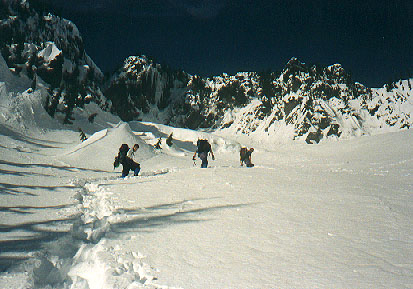 Crossing under Bryant Peak