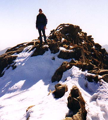 Maren on the summit of Alta