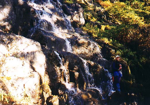 Maren at the waterfall crossing