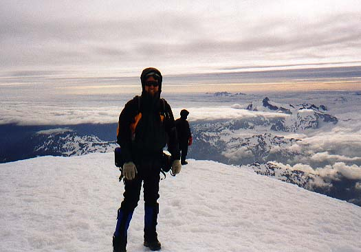 Matt on the summit of Mt. Baker