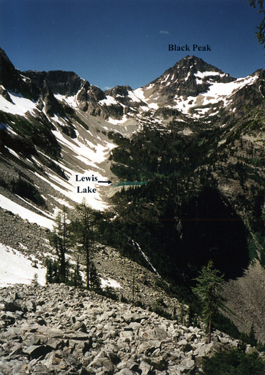 The route to Black Peak