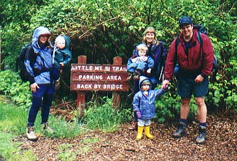 The Steiners, Robertsons and Arnolds at the trailhead