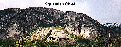 Squamish Chief, with the Apron in sunlight